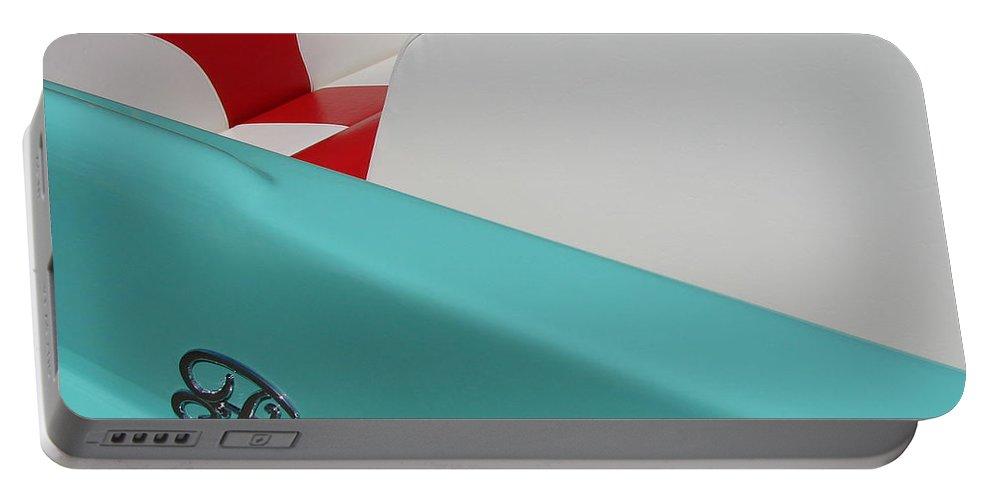 Boat Portable Battery Charger featuring the photograph Fleetform Powerboat Ll by Michelle Calkins
