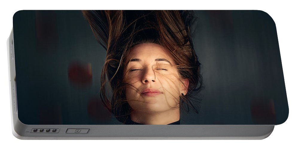 Girl Portable Battery Charger featuring the photograph Fleeting Dreams by Johan Swanepoel