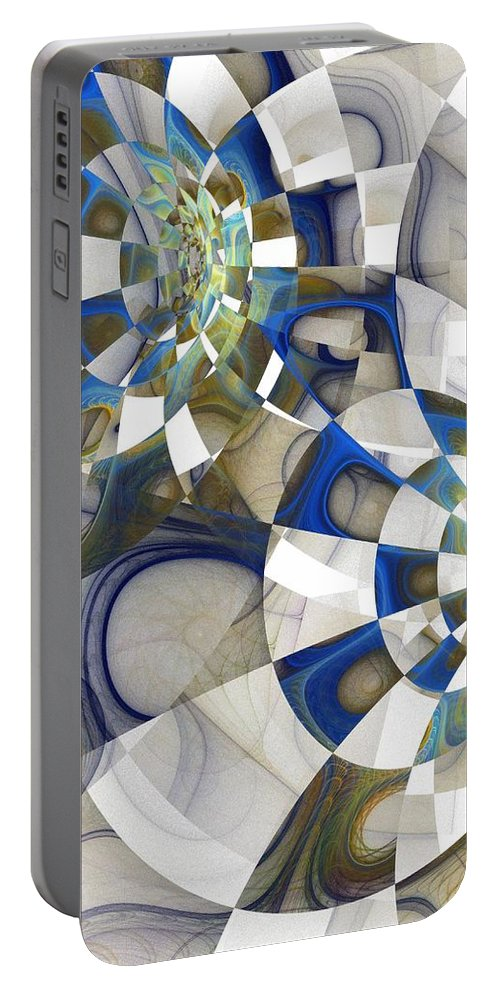 Digital Art Portable Battery Charger featuring the digital art Flight by Amanda Moore
