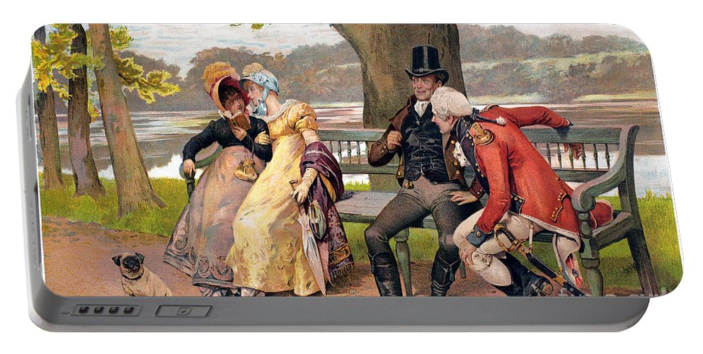 19th Century Portable Battery Charger featuring the photograph Flirtation, C1810 by Granger