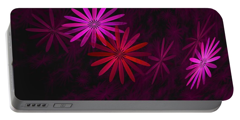 Fantasy Portable Battery Charger featuring the digital art Floating Floral - 006 by David Lane