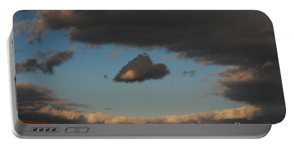 Heart Portable Battery Charger featuring the photograph Floating Heart by Lori Tambakis
