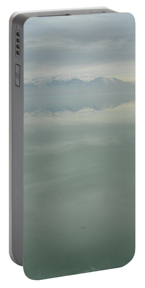 Utah Lake Portable Battery Charger featuring the photograph Floating by Kat Cortez