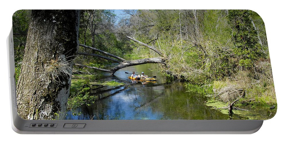 Ichetucknee River Florida Portable Battery Charger featuring the photograph Floating The Iche by David Lee Thompson