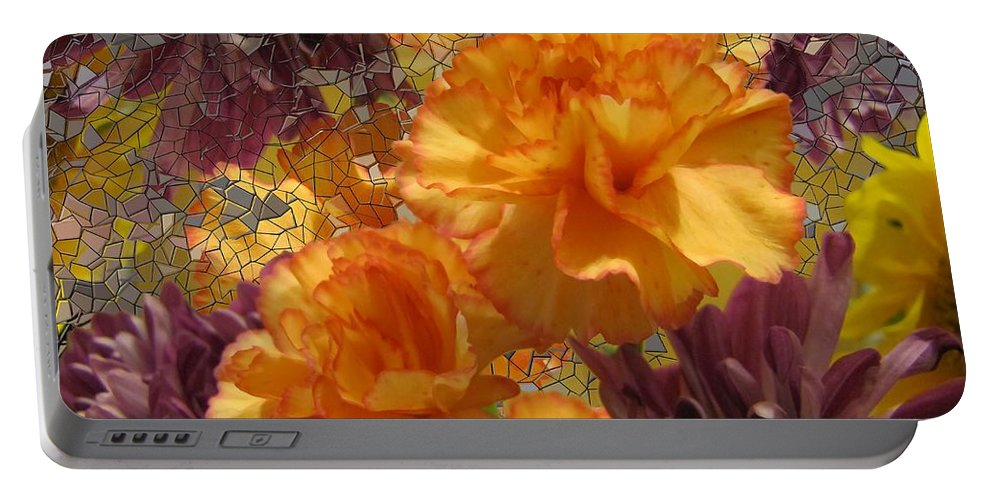 Flowers Portable Battery Charger featuring the photograph Floral Explosion by Tim Allen