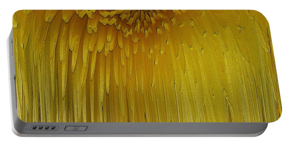 Flower Portable Battery Charger featuring the digital art Floral Falls 5 by Tim Allen