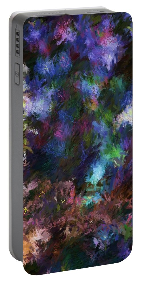 Flowers Portable Battery Charger featuring the digital art Floral Field by David Lane