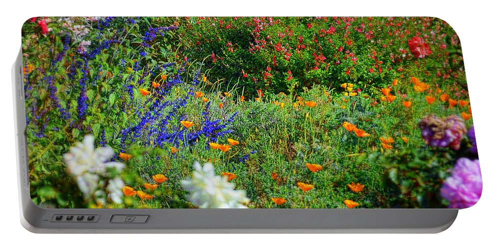 Mccarthy Art Portable Battery Charger featuring the photograph Floral Flow by Glenn McCarthy