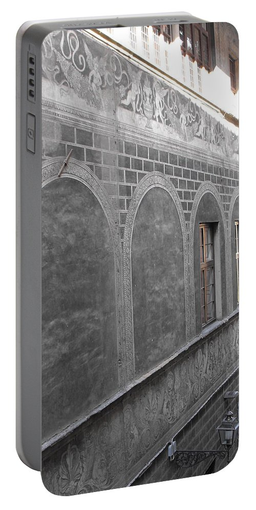 Florentine Stone Graffiti Portable Battery Charger featuring the photograph Florentine Stone Graffiti 2 by Ginger Repke