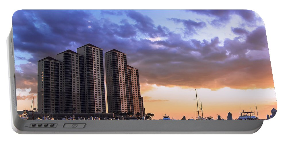 Florida Highrise Portable Battery Charger featuring the photograph Florida Highrise by Michael Frizzell