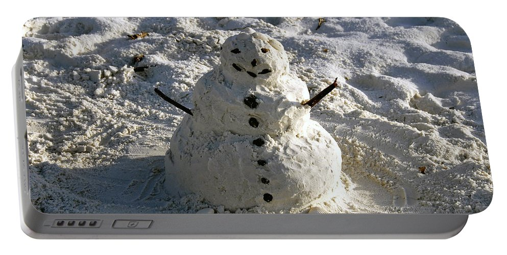 Snowman Portable Battery Charger featuring the photograph Florida Snowman by David Lee Thompson