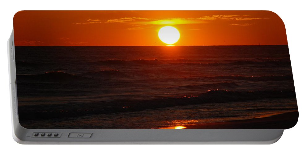 Sunset Portable Battery Charger featuring the photograph Florida Sunset by Susanne Van Hulst