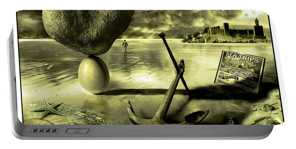 Art Portable Battery Charger featuring the photograph Flotsam And Jetsam by Mal Bray