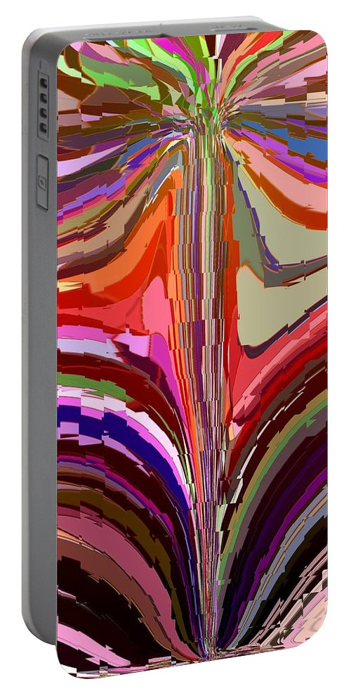 Abstract Portable Battery Charger featuring the digital art Flourish Again by Tim Allen