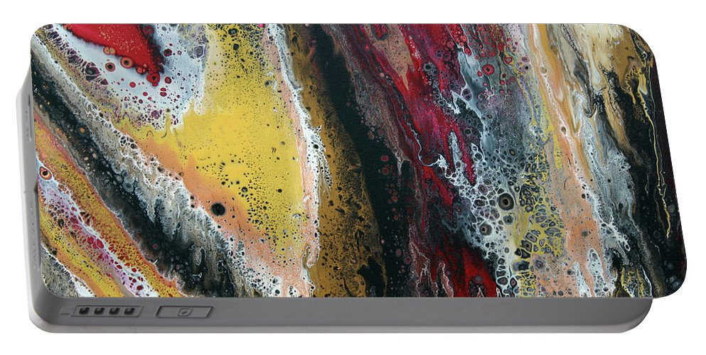 Abstract Portable Battery Charger featuring the painting Flow 60 by Terry O'Donnell