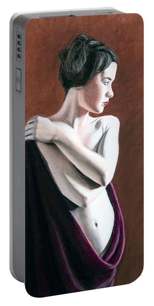 Joe Ogle Portable Battery Charger featuring the painting Flow by Joseph Ogle