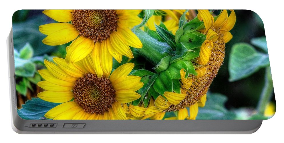 #sunflower Portable Battery Charger featuring the photograph Flower #39 by Albert Fadel