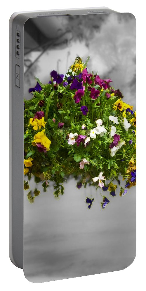 Nature Portable Battery Charger featuring the photograph Flower Basket by Svetlana Sewell