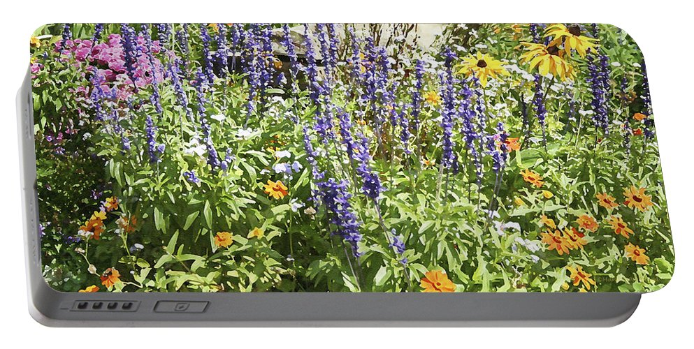 Flower Portable Battery Charger featuring the photograph Flower Garden by Margie Wildblood