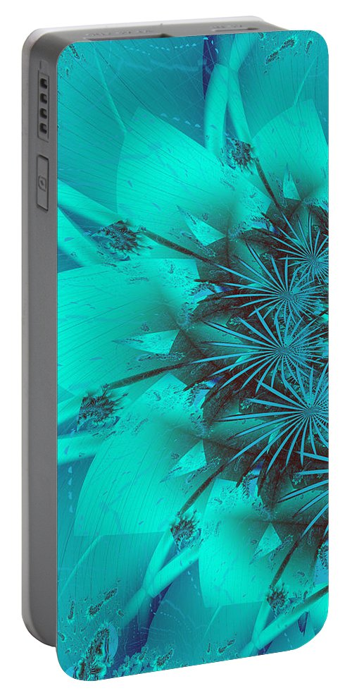 Fractal Portable Battery Charger featuring the photograph Flower by Keith Bowden