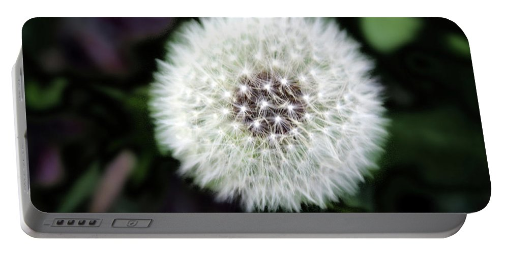 Weed Portable Battery Charger featuring the photograph Flower Of Flash by Mark Ashkenazi