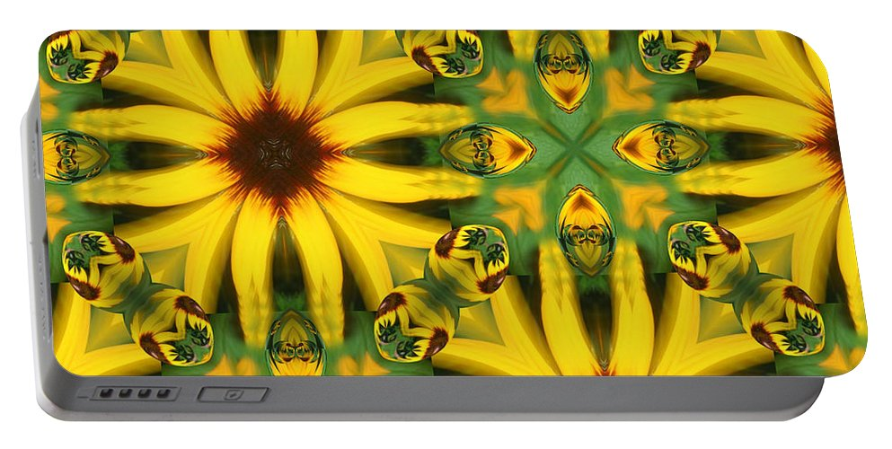 Flowers Portable Battery Charger featuring the digital art Flower Pattern by Linda Sannuti