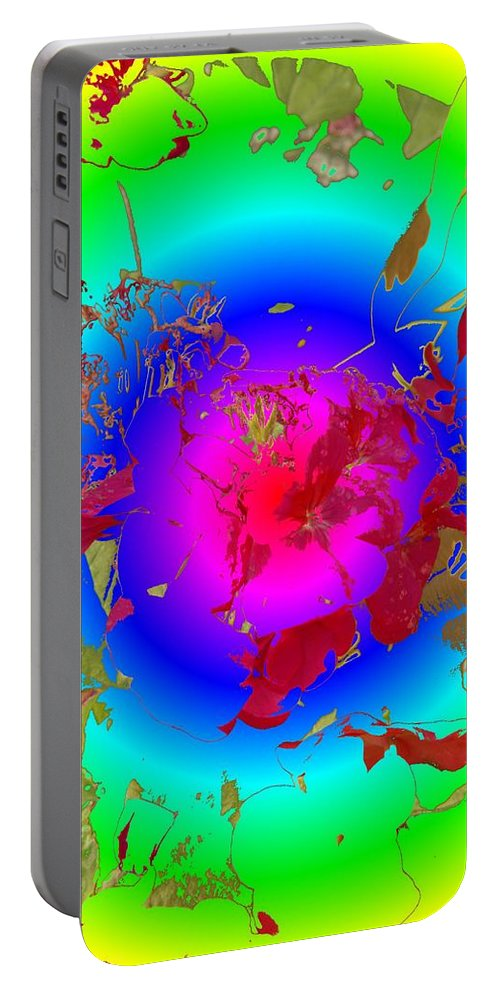 Flowers Portable Battery Charger featuring the photograph Flowers Flux by Tim Allen