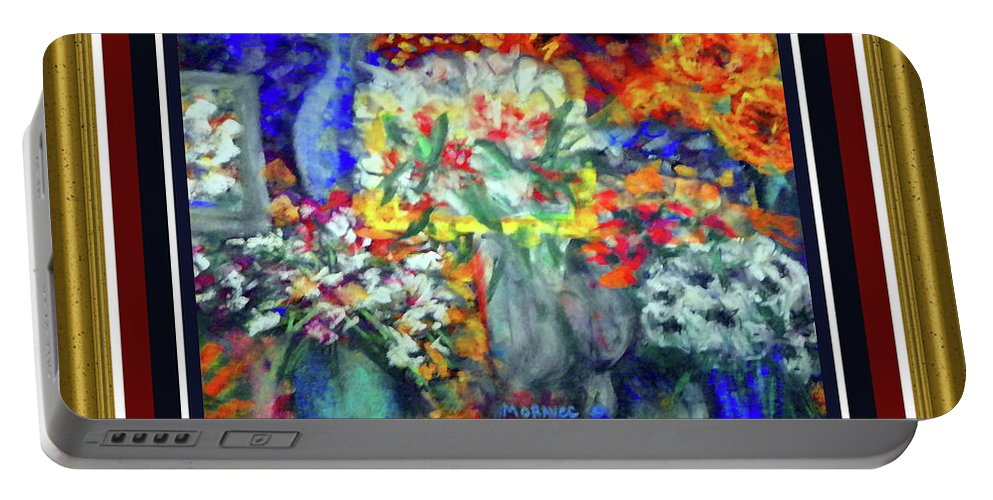 Portable Battery Charger featuring the photograph Flowers For You by Shirley Moravec