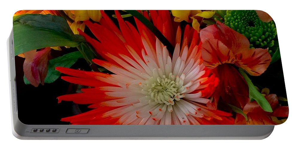 Flowers Portable Battery Charger featuring the photograph Flowers From Dad by Monica Sassano