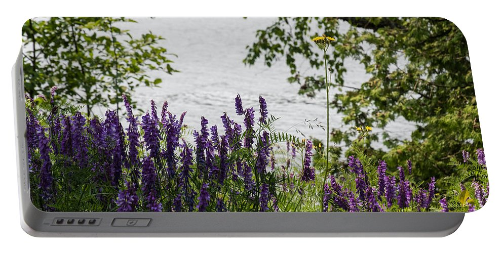 Beauty Portable Battery Charger featuring the photograph Flowing Beauty by Wesley Farnsworth
