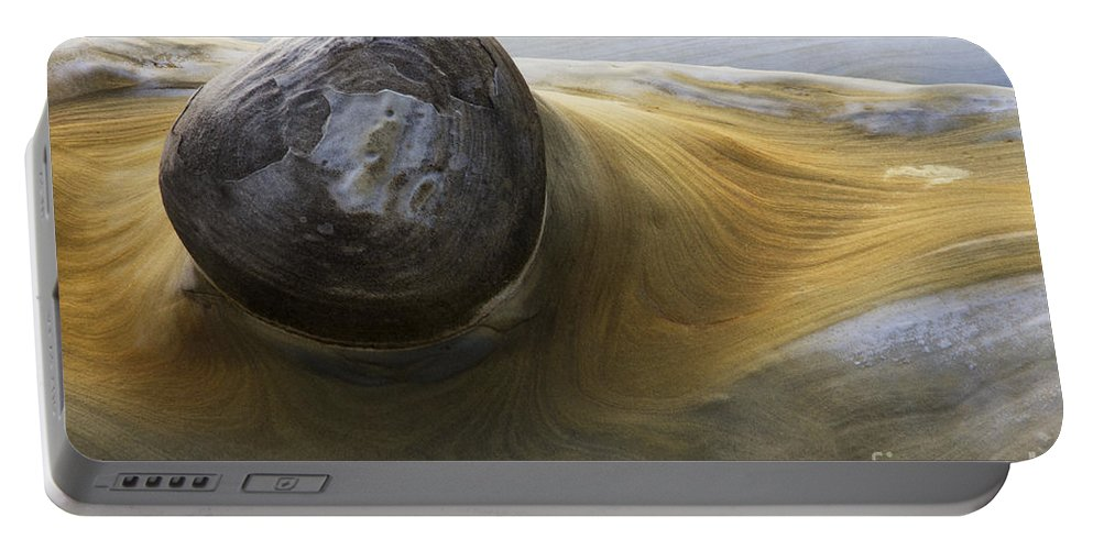 Rock Portable Battery Charger featuring the photograph Flowing Rock 1 by Bob Christopher