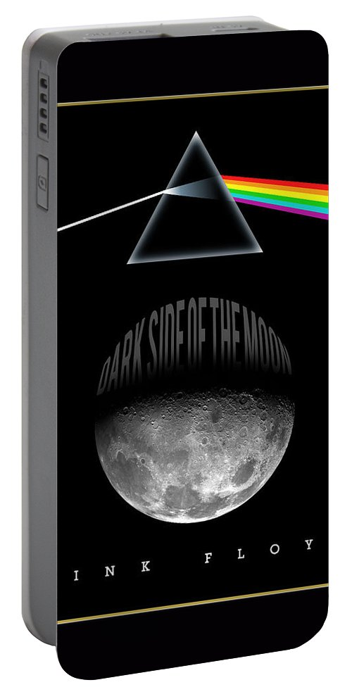 Portrait Portable Battery Charger featuring the painting Floyd The Darkside by Gary Grayson