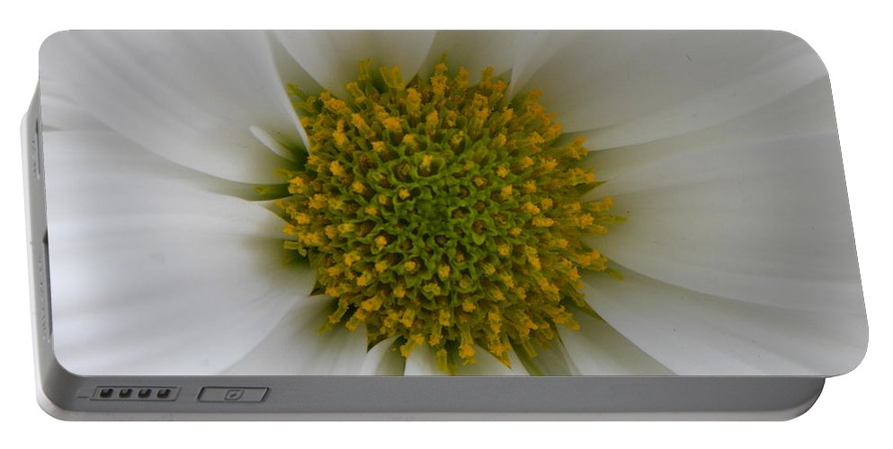 Nature Portable Battery Charger featuring the photograph Core Of A Daisy by Shannon Turek