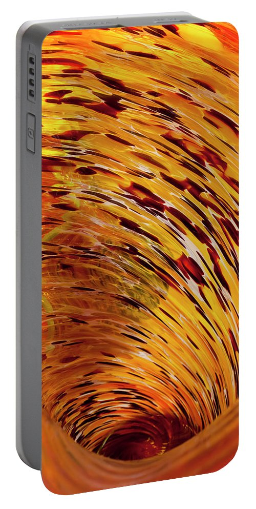Blown Glass Portable Battery Charger featuring the photograph Flushed by Janet Fikar