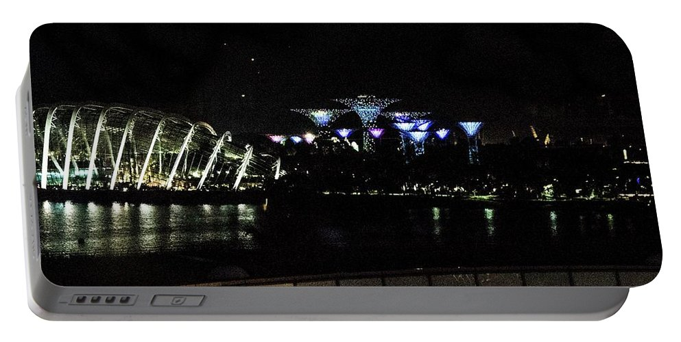 Flyer Portable Battery Charger featuring the photograph Flyer Night View by David Rolt