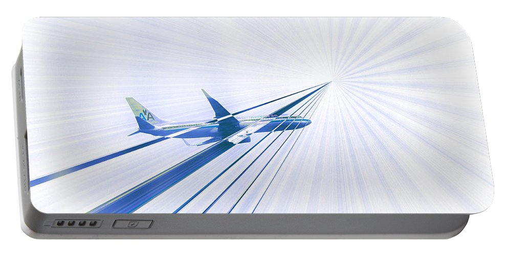 Air Plane Portable Battery Charger featuring the photograph Flying Blind 2 by Bill Cannon