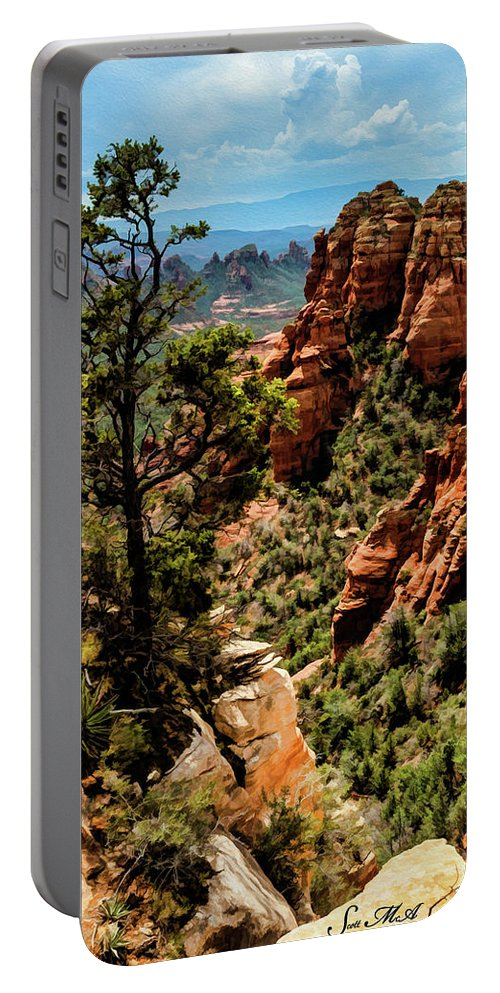 Arizona Portable Battery Charger featuring the photograph Flying Buttress 04-091 by Scott McAllister