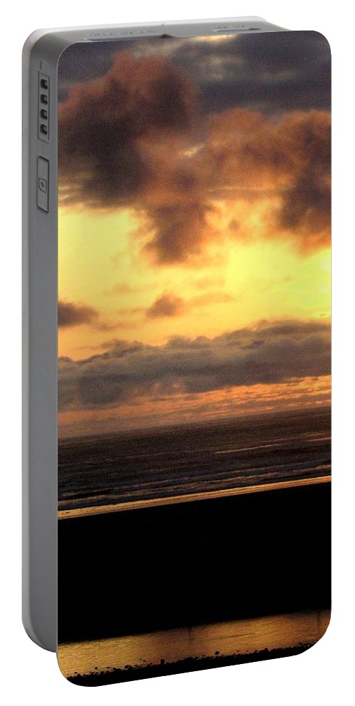 Sunset Portable Battery Charger featuring the photograph Flying Dog Sunset by Will Borden
