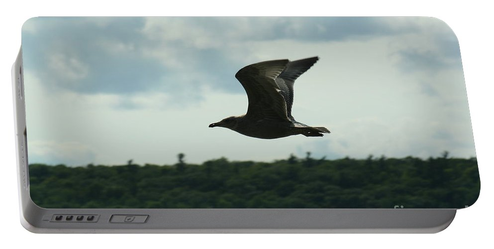 Ephraim Portable Battery Charger featuring the photograph Flying Ephraim Wi by Tommy Anderson