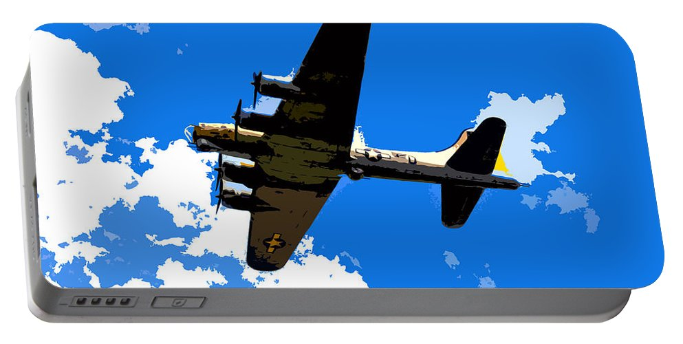 Flying Fortress Portable Battery Charger featuring the photograph Flying Fortress by David Lee Thompson