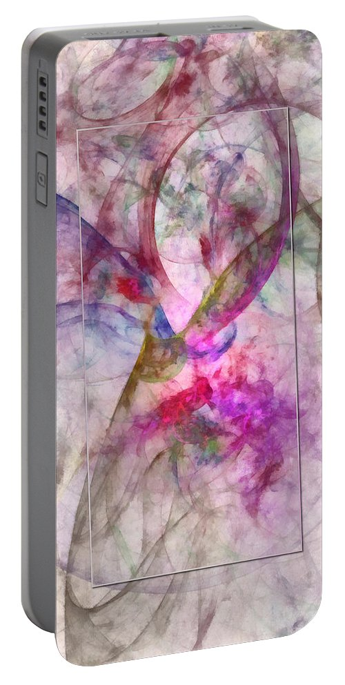 Ndc099 Portable Battery Charger featuring the painting Flyleaves Architecture Id 16098-035449-63591 by S Lurk