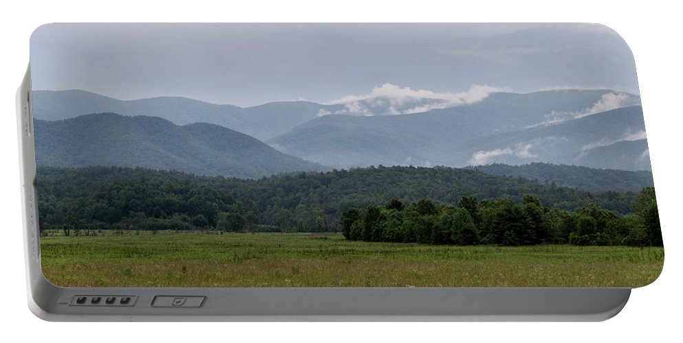 Adventure Portable Battery Charger featuring the photograph Fog Forming In The Mountains by Benjamin King