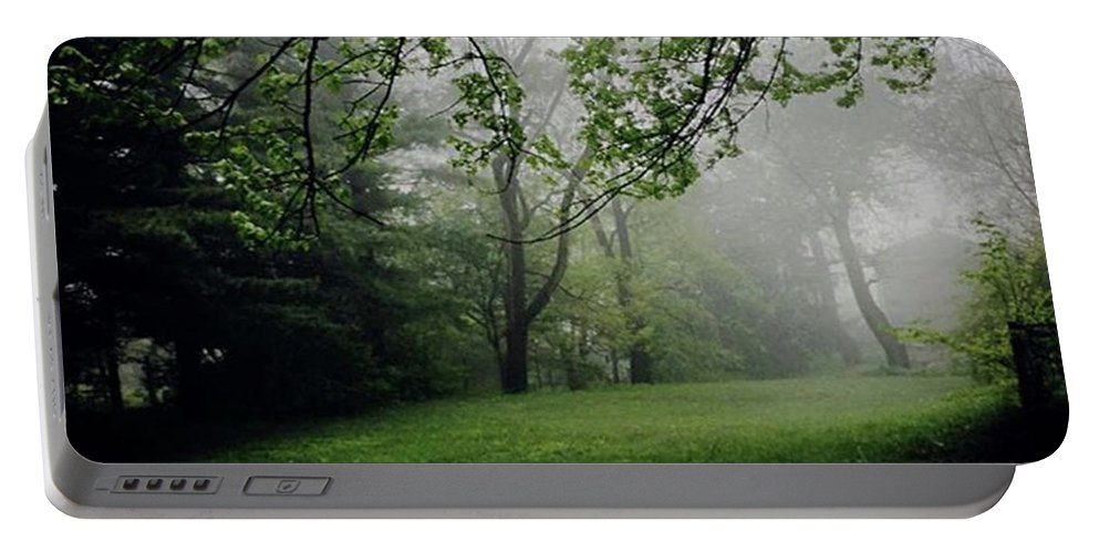 Fog Portable Battery Charger featuring the photograph Fog On The Green by Frank J Casella