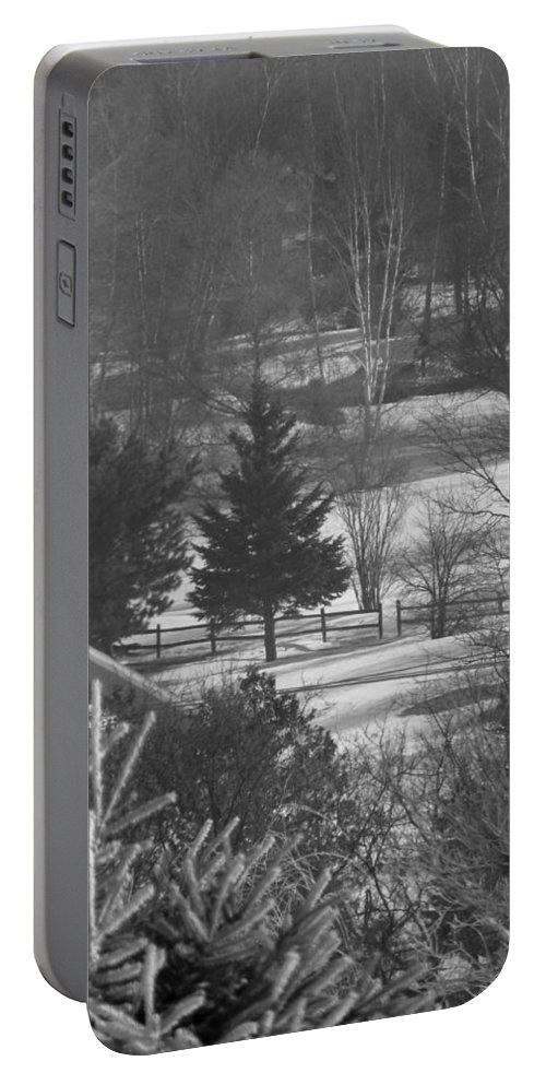 Frost Portable Battery Charger featuring the photograph Foggy Frosty Morning by William Tasker
