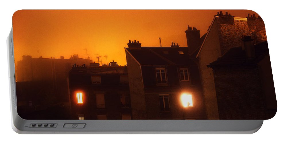 Reims Portable Battery Charger featuring the photograph Foggy Night by Florian LEPREST