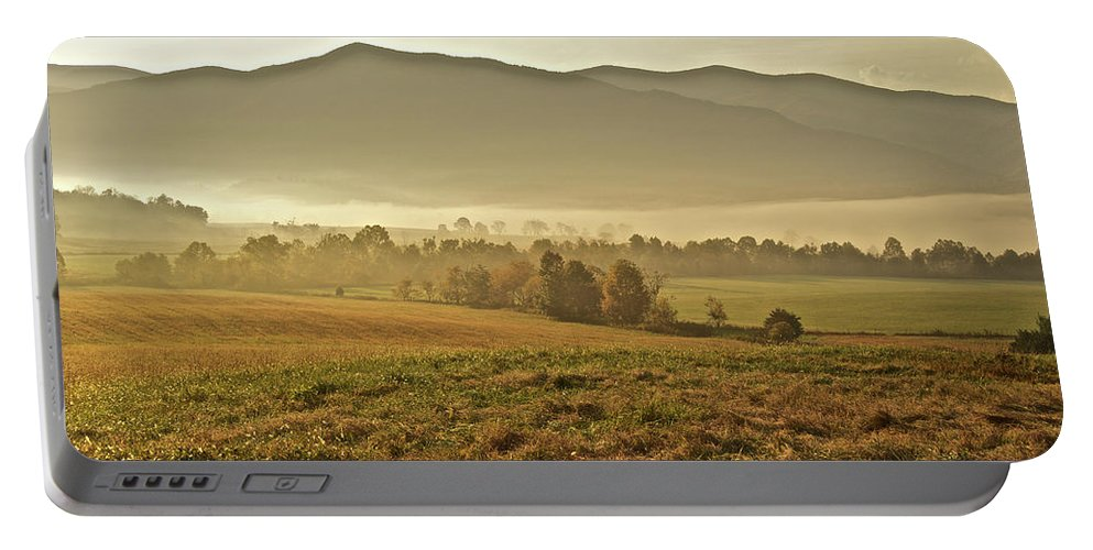 Landscape Portable Battery Charger featuring the photograph Foggy Valley by Michael Peychich
