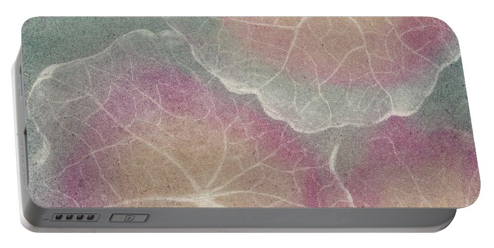 Nature Portable Battery Charger featuring the mixed media Foliage 3 by Pati Hays