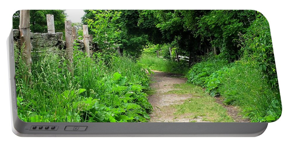 Path Portable Battery Charger featuring the photograph Follow by Ian MacDonald