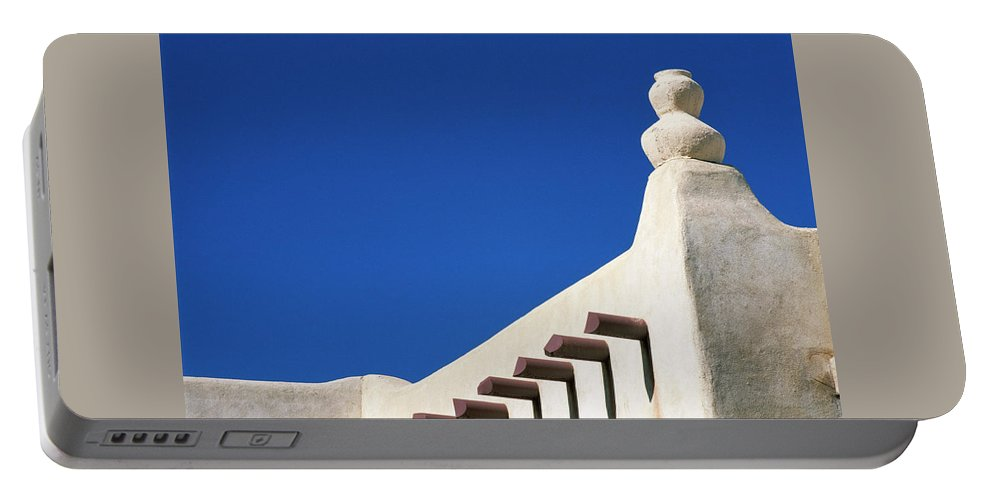 Southwest Portable Battery Charger featuring the photograph Follow The Cairn by Jim Benest