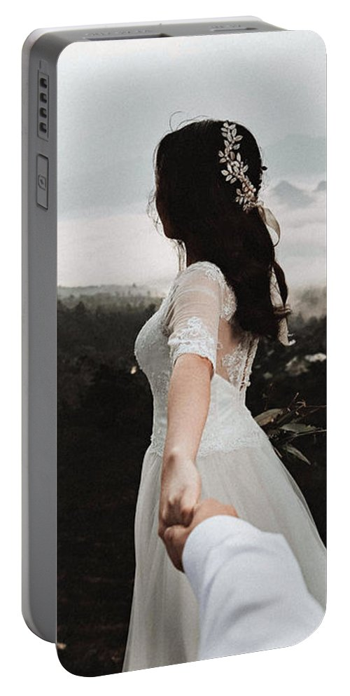 Following Portable Battery Charger featuring the photograph Following My Bride by Fbmovercrafts